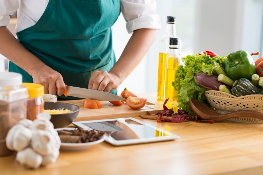 Cooking healthy gut friendly meal