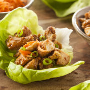 One pan asian lettuce cups