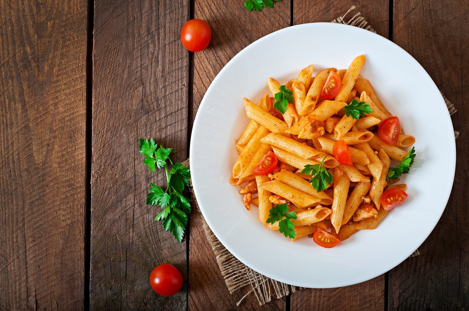 chicken and brown rice pasta