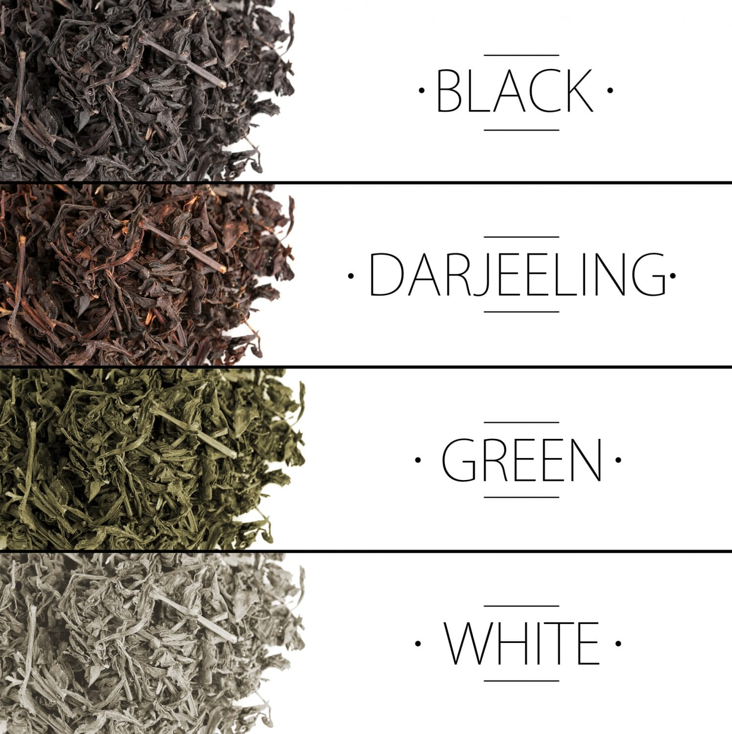 differences between teas
