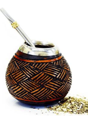 yerba mate gourd and bombilla