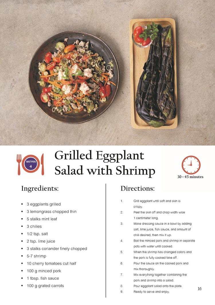 Grilled Eggplant Salad with Shrimp