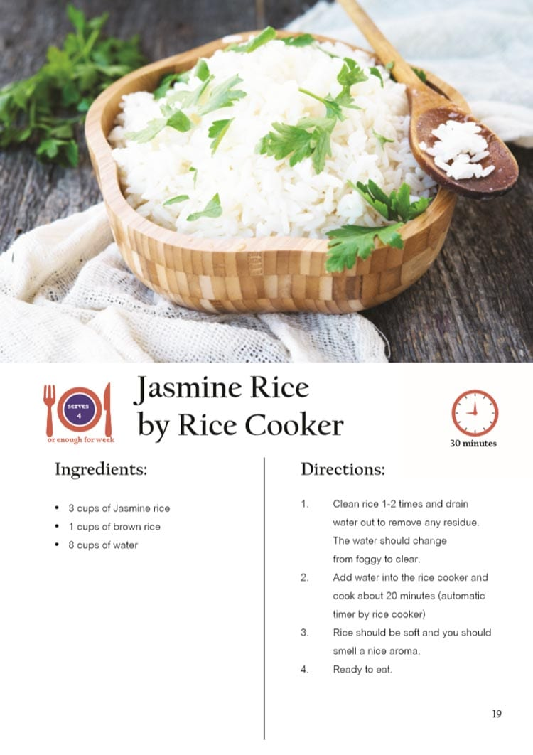 Jasmine Rice by Rice Cooker