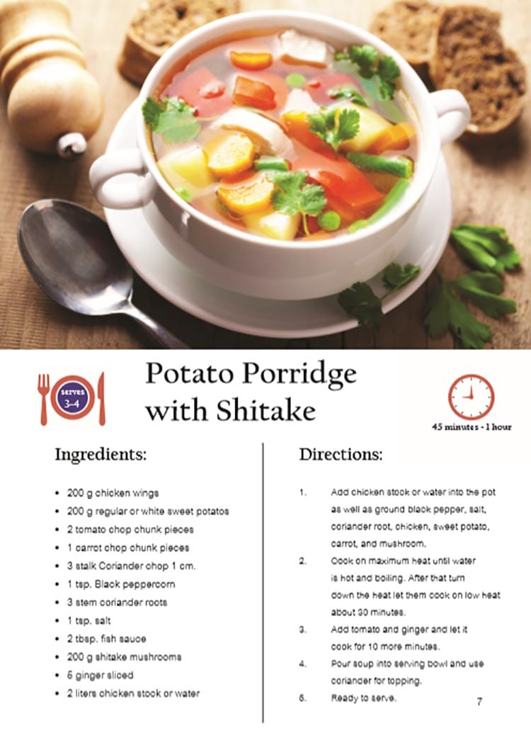 Potato Porridge with Shitake