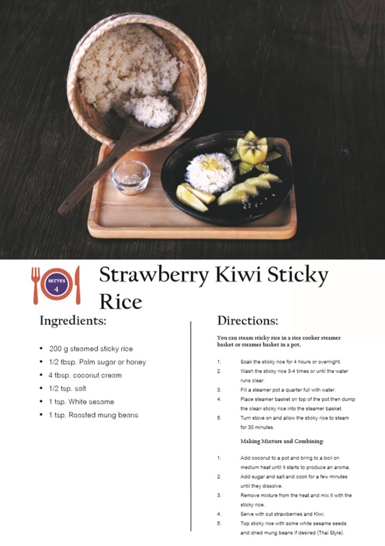 Strawberry Kiwi Sticky Rice Recipe
